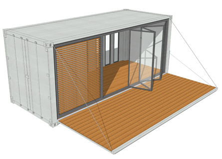 20ft containerhaus containerhome containerhouse for Container gartenhaus